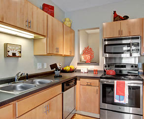 Covington Kitchen with Stainless Steel Appliances, The Covington