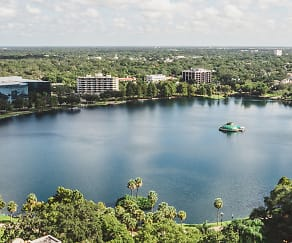 Beautiful views of Lake Eola, Modera Central