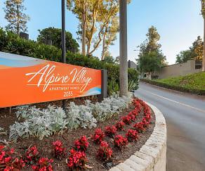 Community Signage, Alpine Village Apartments