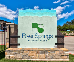 Community Signage, River Springs at Barge Ranch Apartments