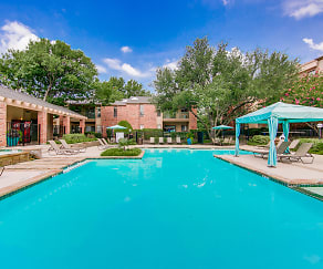 Pool, Oaks of North Dallas Apartments