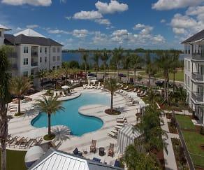 Pool, Baldwin Harbor Apartments