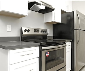 Kitchen, The Heights Apartments