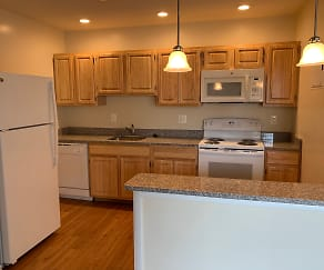 Kitchen, Skyview Apartments