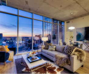 Living Room, One Light Luxury Apartments
