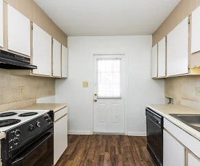 Kitchen, Crown Point Luxury Apartments