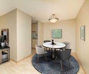Dining Room, Forest Place Apartments
