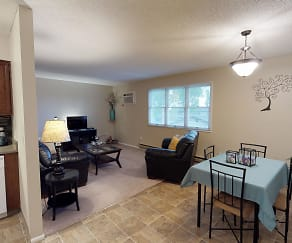 Great Dining Space Leading into the Living Room, Castlerock Apartments