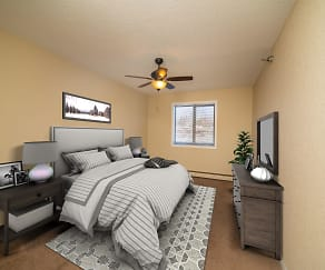 Bedroom, Sterling Ponds Apartments