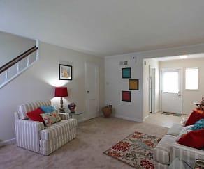 Living Room, Hilliard Road Apartments