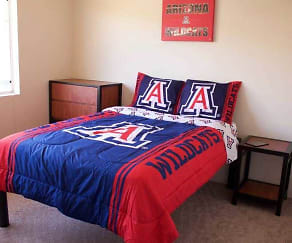 Bedroom, The Ledges at West Campus