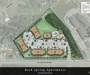 Community Signage, Rock Spring Apartments