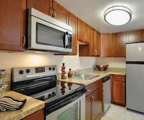 Kitchen, Waterview Apartments
