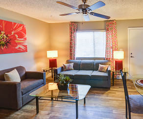 Living Room, Fiesta Village Furnished Apartments
