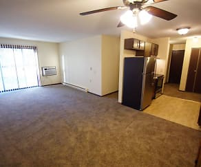 Spacious dining and living rooms., Northern Oaks Apartments