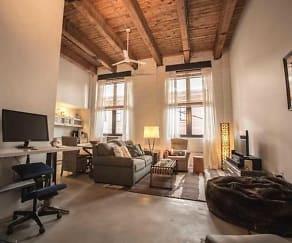 Living Room, The Brake House Lofts