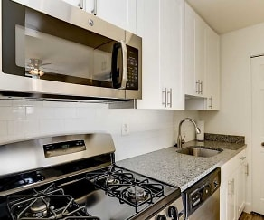 Kitchen, Hallfield Apartments