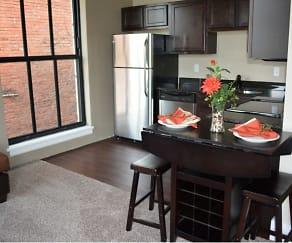 Kitchen, Democrat Lofts