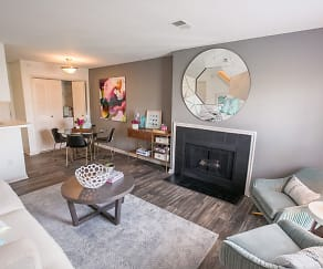 Living Room, Williamsburg Townhomes Rental Homes