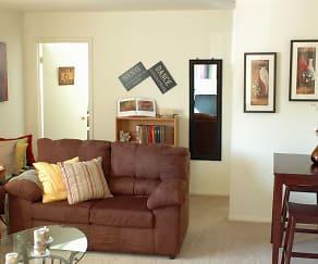 Living Room, Newport Terrace Apartments
