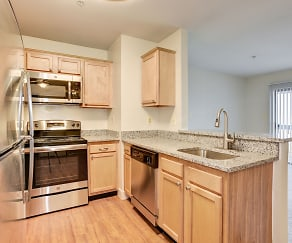 Kitchen, Fox Run Apartments