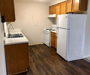 Kitchen, Red Lion Apartments