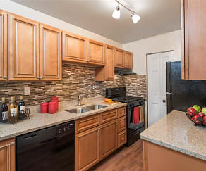 Kitchen, Pinewood Gardens Apartments
