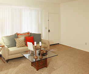 Living Room, Fox Chase Apartments