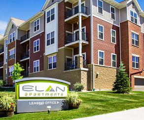 Community Signage, Elan Apartments