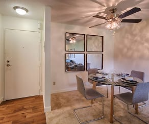 Dining Room, The Woods of Burnsville Apartments