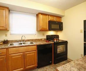 Kitchen, Belmont Ridge Apartments