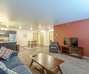Living Room, Boulevard Square Apartments