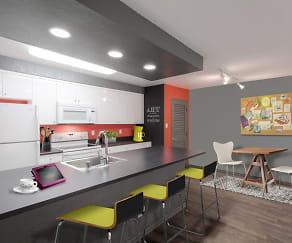 Kitchen and Dining Area, AVA Pasadena