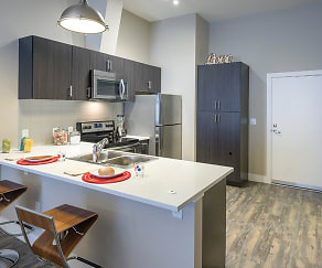 1000 South Broadway Apartments Model Kitchen and Breakfast Bar, 1000 S Broadway Apartments