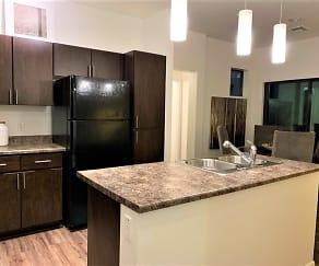 Kitchen, Elevation Apartments