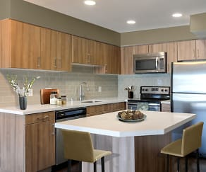 Kitchen, Harborside Marina Bay Apartments