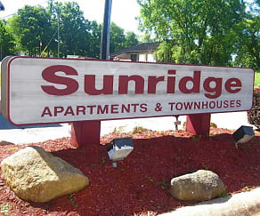 Community Signage, Sunridge Apartment And Townhomes