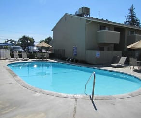 Pool, Merit Manor Apartments