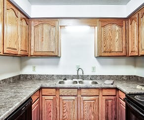 Kitchen, Maple Crest Apartments