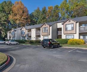Building Exterior and Parking Lot, Landmark at Bella Vista Apartment Homes