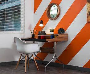 on-trend pops of color in every apartment, Uptown Fullerton
