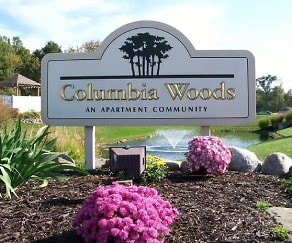 Community Signage, Columbia Woods Apartments