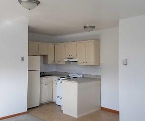 Kitchen, Pine Manor Apartments