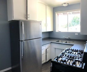 Kitchen, Verdugo Mesa Apartments