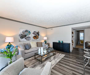 Living Room, 550 Abernathy Apartments