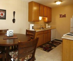 Kitchen, Mountain View Apartments