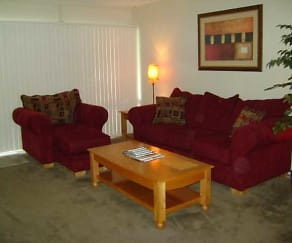 Living Room, Cabana West Apartments