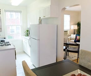 One Bedroom Apartment Kitchen and Dining, eaves Tunlaw Gardens