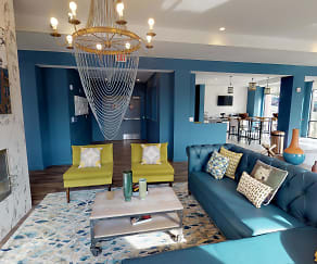 Living Room, 303 Flats Student Living - PER BED LEASE