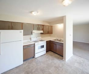 Kitchen, Crowne Park Apartments
